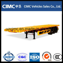 Cimc 40 Feet 3 Axle Flatbed Trailer 40 Ton