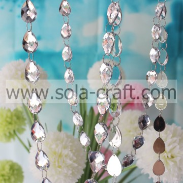 Clear Acrylic Mirror Bead String Hanging Wedding Tree