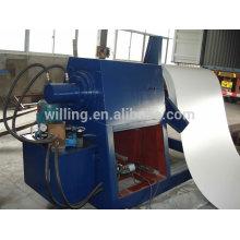 Гидравлическая разматывающая машина для цветной листовой стали