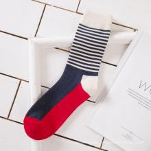 2019 Wholesale Striped Crew 100% Cotton Work Dress Men Strip Socks