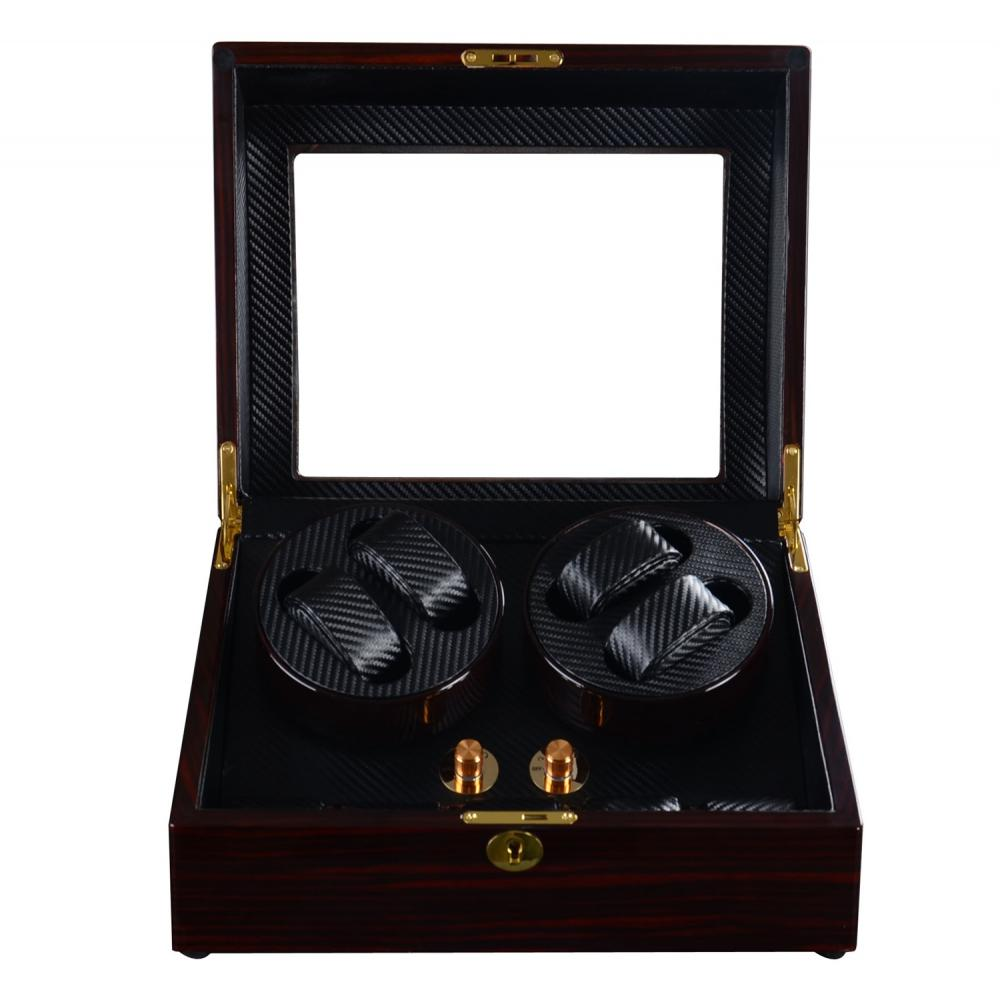 Ww B9or Ebony Watch Winder With Storage