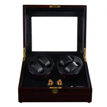 Ebony Watch Winder Box mit Fenster