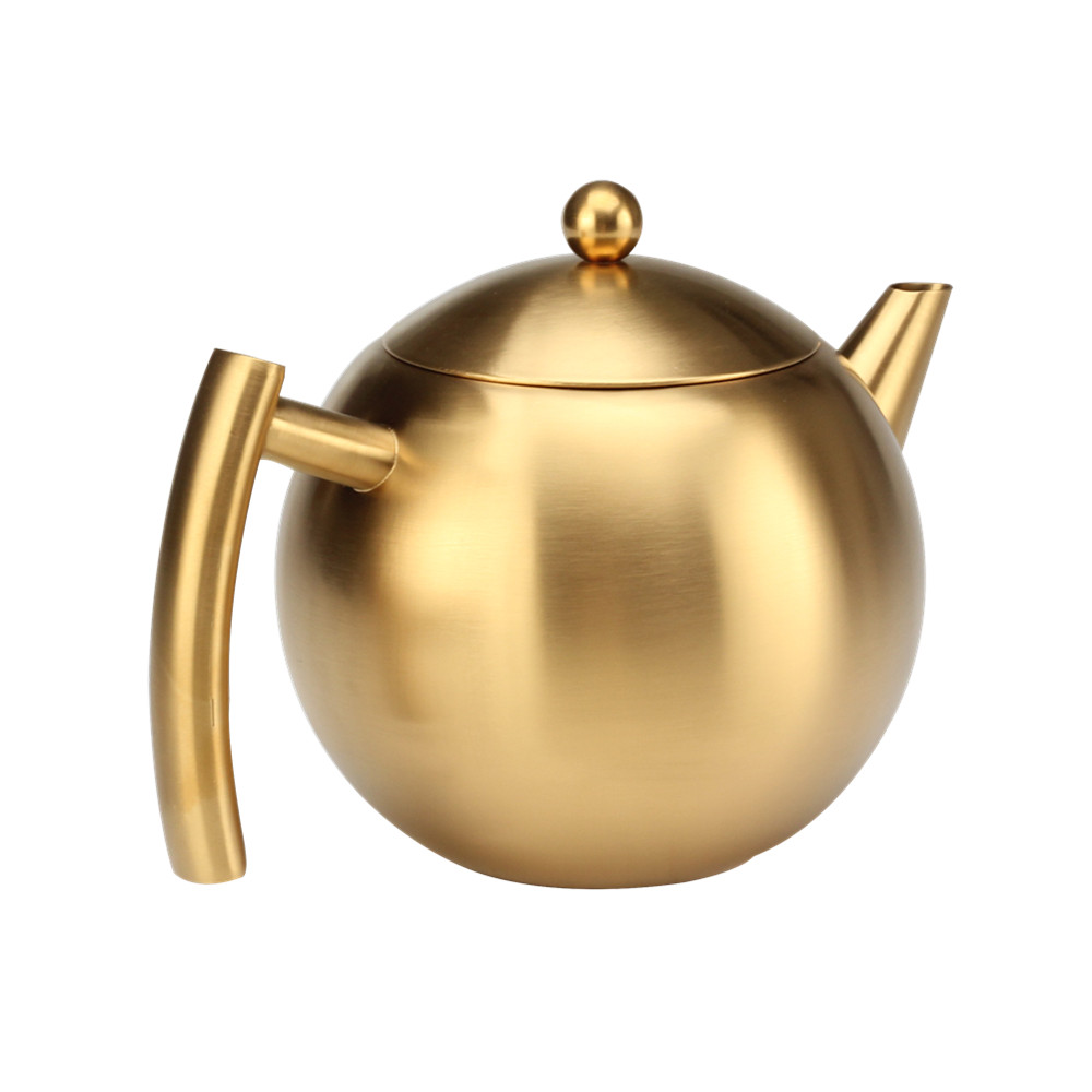 Gold Color Tea Pot