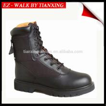 MA1 Botas militares com sola de borracha e couro preto