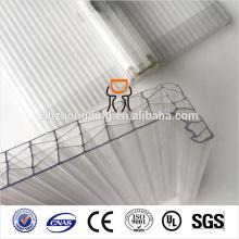 16MM Clear U-LOCK Soft Textil hoja de policarbonato
