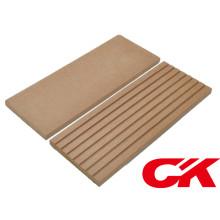 WPC Decking Floor Sólido Junta Exterior Plástico de Madera Decking compuesto