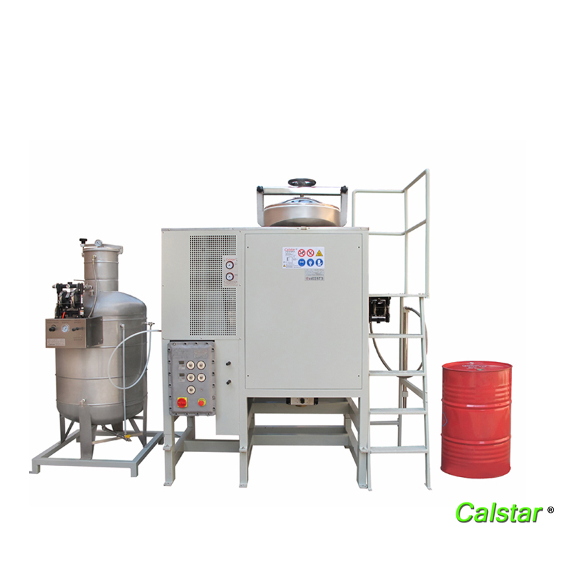 Large-scale solvent distillation and recovery