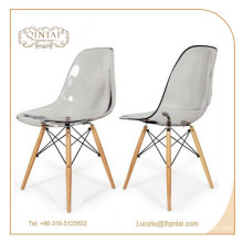 durable factory price crystal plastic salon chair for sale