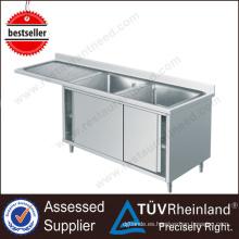 Gabinete cuadrado barato del acero inoxidable del proveedor de Guangdong con el fregadero