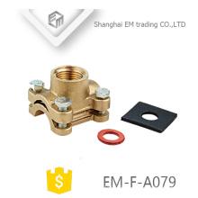 EM-F-A079 encaixe de compressão de ponteira de latão tipo flange duplo