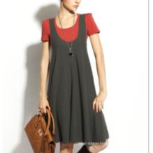 17PKCS153 2017 women winter warm trendy 85/15 cotton cashmere dress