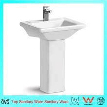 Venta al por mayor el mejor precio cuadrado lavabo nuevo diseño blanco lavado pedestal cuenca