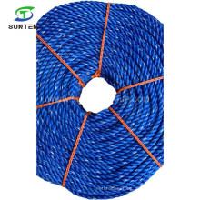 3/4/8 Strand Blue PE/Polyethylene/PP/Polypropylene/Plastic/Fishing/Marine/Mooring/Twist/Twisted Danline Rope for Philippines