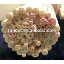 Round 2 holes alumina ceramic insulation tubes