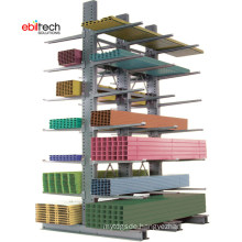 Industrial Warehouse Long Cargo Storage Racking Cantilever Racking System on Sale