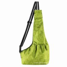 Cross-border new travel green plaid Oxford cloth crossbody pet backpack