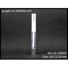 Прозрачные & пустые пластиковые круглые трубы, связанная с блеск для губ AG-LG-НАРОСТ CW001, AGPM косметической упаковки, логотип цвета