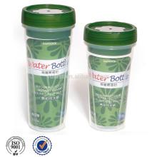 Garrafa de água potável de plástico transparente BPA 600ML
