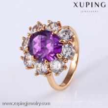 11795 Xuping 18K Gold Gemstone Ring, Engagement Jewelry Diamond Ring