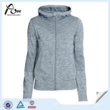 Полиэстер Спортивная Одежда Женщин Полный Молнии Спортивная Куртка