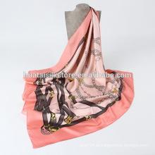 Chales cuadrados de seda baratos y bufandas en la fábrica de China
