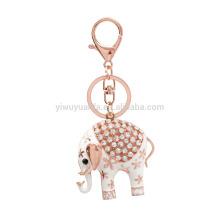 Hot Sale Fully Rhinestones Cute Elephant Key Chain For Gift