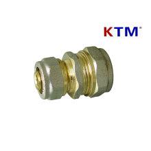 Conexión de tubería de latón - Conector recto reductor - Conexiones de tubería de agua y gas