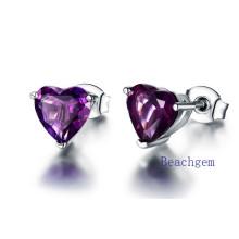 Jewellery-Amethyst Sterling Silver Earrings (E7604
