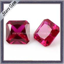 Quadrado Forma Asscher Corte Pombo Sangue 5 # Ruby