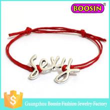 Fasihon Infinity Custom Logo Cuerda de cuero Lucky Sexy Charm Pulsera