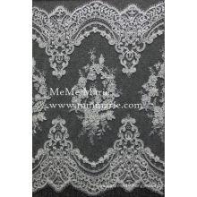 Wholesale fashionable hem lace Fabric /3d lace fabric beaded embroidery bridal wedding lace