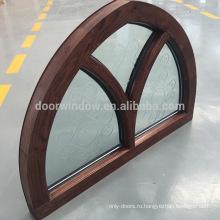 CSA / AAMA / NAMI Сертифицированный алюминиевый корпус из массива дерева с арочным верхом