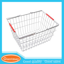 shopping iron folding collapsible metal wire basket