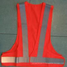 Gilet de sécurité en matière de protection en polyester avec bande réfléchissante