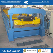 Metal Roof Panel Roll Forming Machine with Hydraulic Cutting