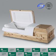 Hot Sale Cremation Casket LUXES American/US Style Clarion Pine Wood Casket