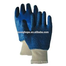 Sunnyhope Baumwolle Handtuchauskleidung Blauer Nitril Vollbeschichteter Arbeitshandschuh