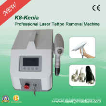 Portable Q Schalter ND YAG 1064nm & 532nm Tattoo Removal Machine