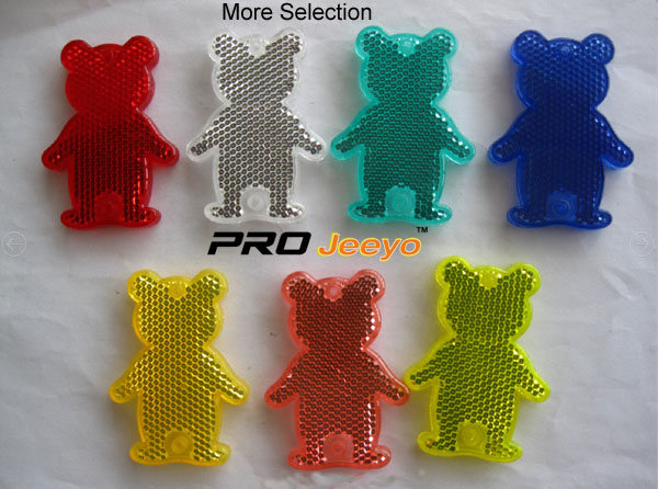 Reflective Safety Bear Cartoon Keychain RV-506 8
