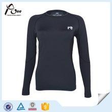 Dame Long Sleeve Großhandel Athletic Verschleiß Kompression Shirt