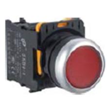 Botón plano, Color rojo, Ym-Skb0-PA, Botón pulsador