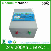 24V 200ah LiFePO4 Storage Battery with BMS