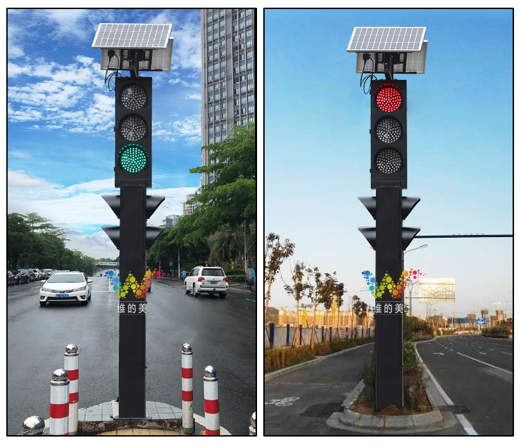 solar powered Integrated led traffic light_08