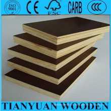 18mm Film Faced Plywood Chapado en marrón oscuro frente a la madera contrachapada
