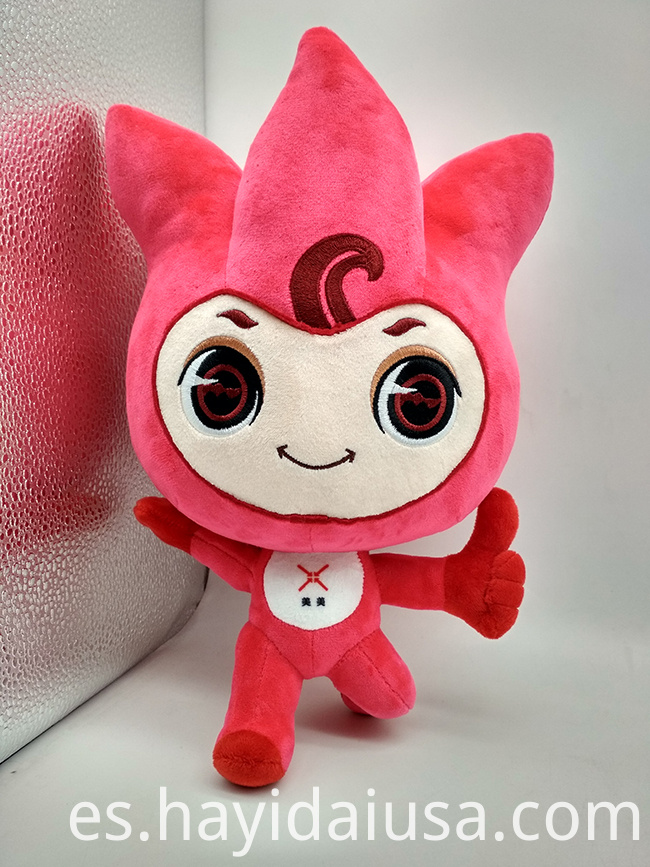 soft mascot toy plush flower toy