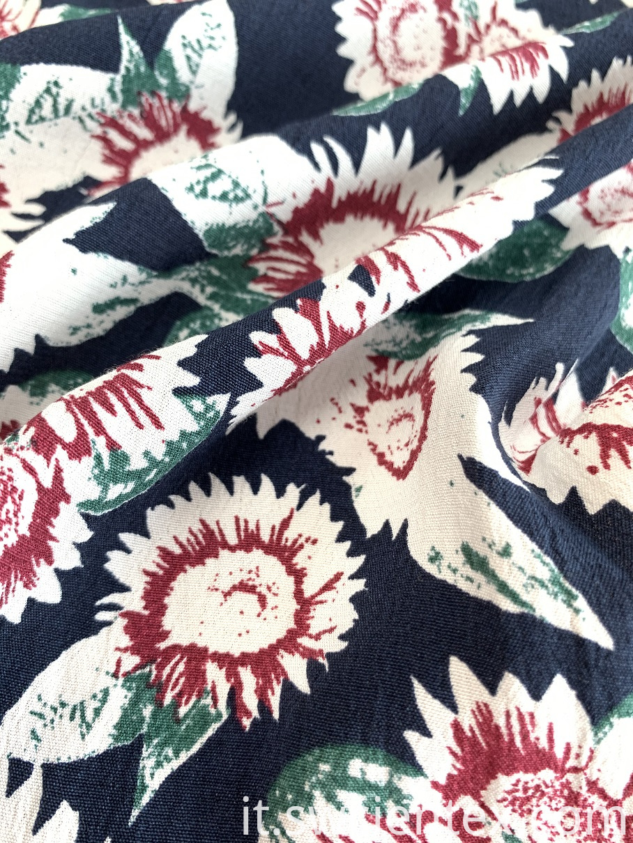 high quality Rayon viscose print