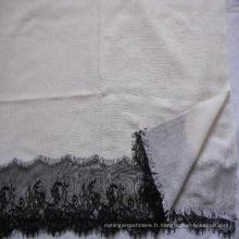50% de soie 50% de laine en dentelle