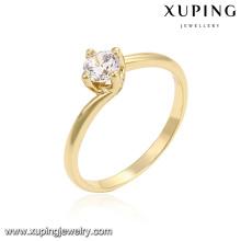 14218 xuping 14 k cor cobre ambiental jóias mulheres anel de noivado de ouro
