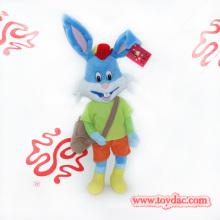 Plush Cartoon Dress Rabbit with Bag