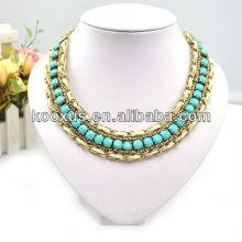 Gold lange Kette Halskette in China hergestellt